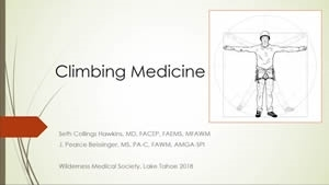 Climbing Injuries - Seth Hawkins, Pearce Beissinger