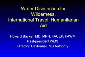 Water Disinfection: Safe Water Wherever You Go - Howard Backer