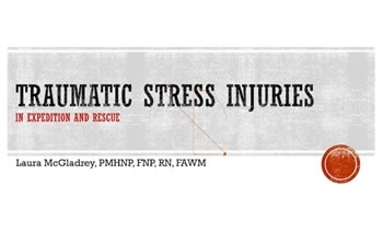 Dealing With Acute Stress in the Field - Laura McGladrey