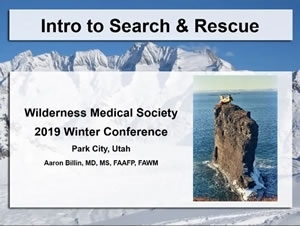 Introduction to Search and Rescue - Aaron Billin