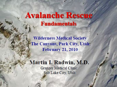 Rescue and Avalanche Technology - Marty Radwin