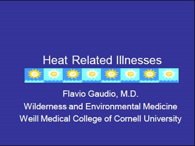 Heat-Related Illnesses -  From Paris to Dakar - Gaudio