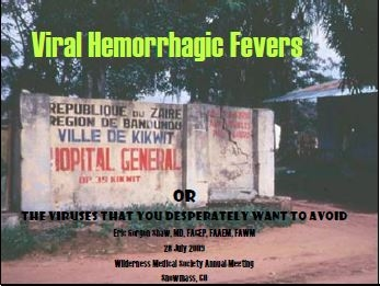 Viral Hemorrhagic Fevers when Traveling Abroad - Shaw