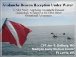Avalanche Beacon Reception Under Water  -  John S. Solberg