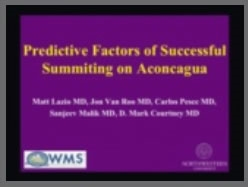 Predictive Factors of Successful Summiting on Aconcagua - Matt Lazio