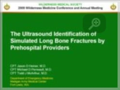 The Ultrasound Identification of Simulated Long Bone Fractures - Jason Heiner
