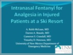 Internasal Fentanyl for Analgesia - Robb McLean
