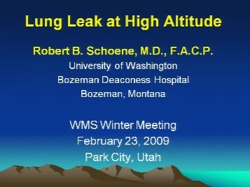 High Altitude Pulmonary Edema (HAPE) - Schoene
