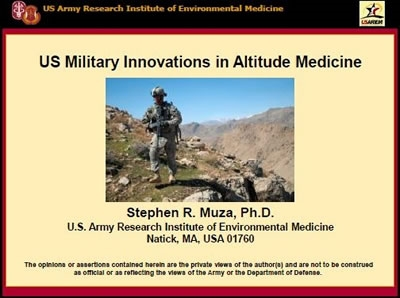 Military Innovations in Altitude Medicine - Muza