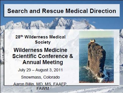 Medical Direction in Search and Rescue - Aaron Billin