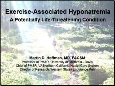 Exercise Induced Hyponatremia - Hoffman