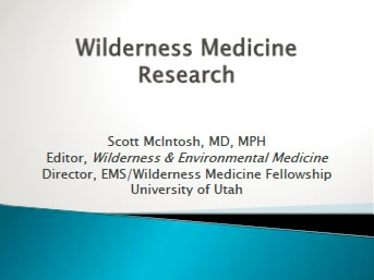 State of Wilderness Medicine Research - McIntosh