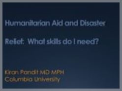 Disaster & Humanitarian Relief: 'What skills do I need?' - Kiran Pandit