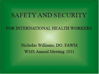 Personal Safety and Team Security - Nick Williams