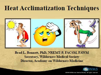 Practical Heat Acclimatization Techniques, Bennett