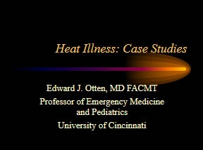 Heat llness Panel Discussion, Otten, Myers, Islas