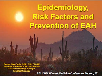 Epidemiology, risk factors and prevention of EAH, Hew-Butler