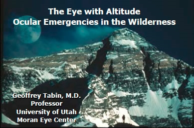 Ophthalmology Emergencies - Geoffrey Tabin