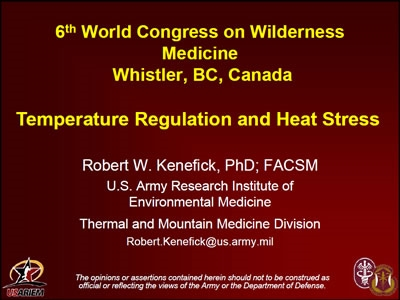Temperature Regulation and Heat Stress - Bob Kenefick