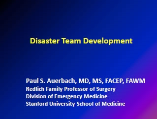 Disaster Team Development - Paul Auerbach
