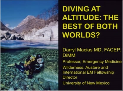 Diving at Altitude - Darryl Macias