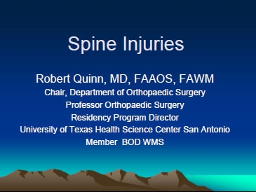 Spine Immobilization - Robert Quinn
