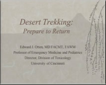 Preparation for Desert Trekking - Mel Otten