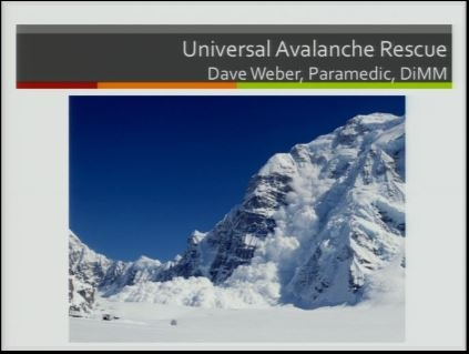 Avalanche Safety and Rescue - David Weber