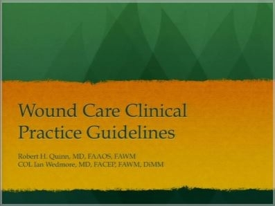 Wound Care Clinical Practice Guidelines - Bob Quinn, Ian Wedmore