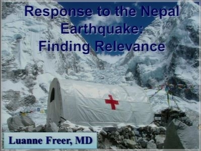 2015 Response to Nepal Earthquake - Luanne Freer