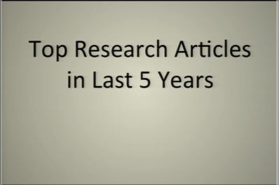 The Top Research Articles in the Past Five Years - Scott McIntosh