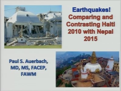 Disaster Relief: Haiti vs Nepal Earthquake - Paul Auerbach