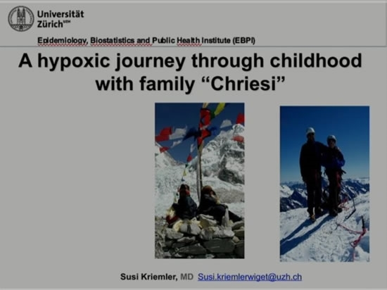 Patients at Altitude: Pediatrics - Susi Kriemler