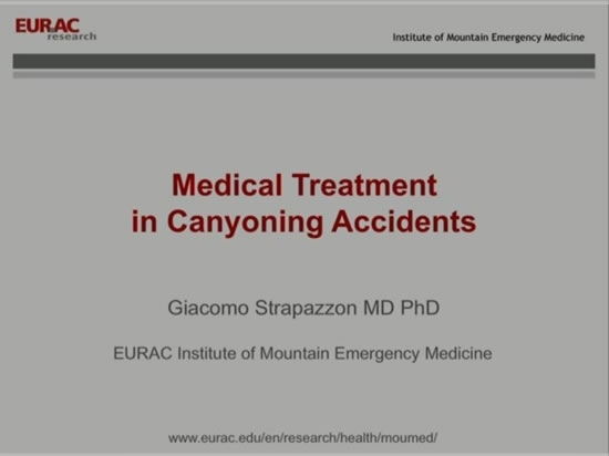 Medical Treatment in Canyoning Accidents - Giacomo Strapazzon, Inigo Soteras