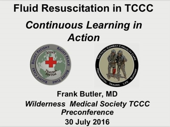 Fluid Resuscitation: Yesterday and Today - Frank Butler