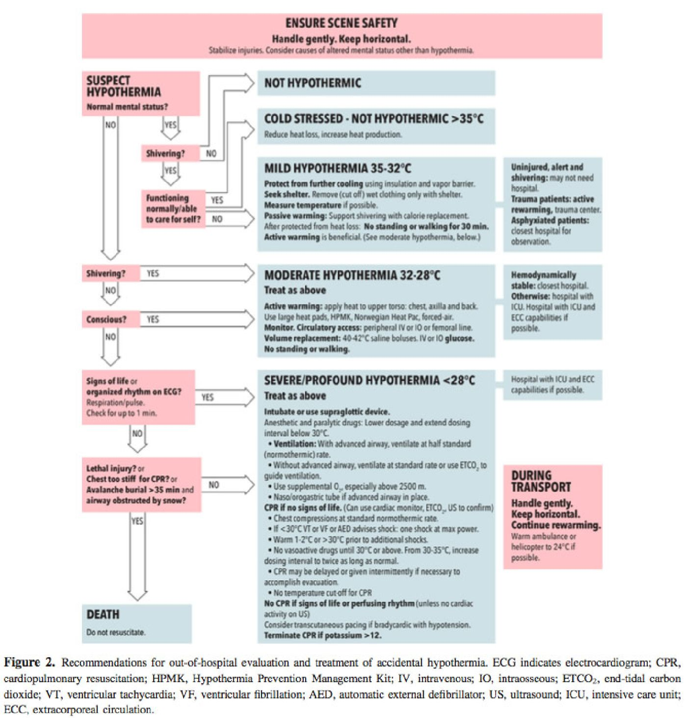 Wilderness medical society hypothermia flowchart note figure 1 above is figure 2 from the wms hypothermia guidelines nvjuhfo Image collections